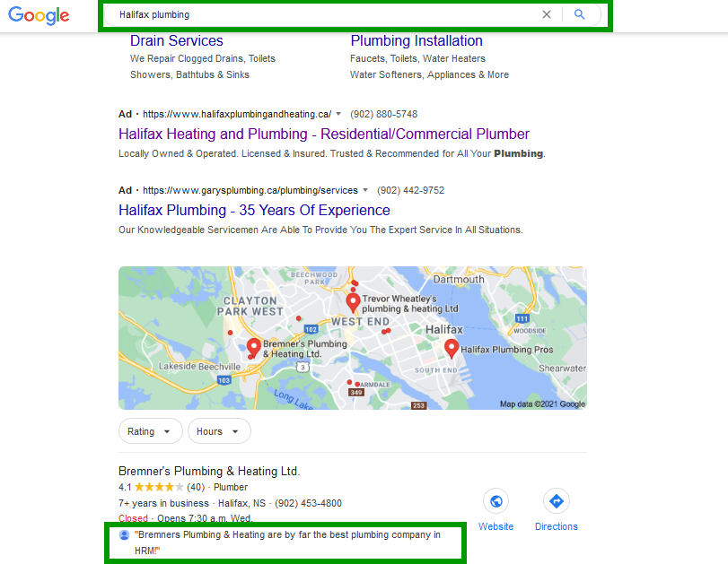 Google Reviews and Search Intent