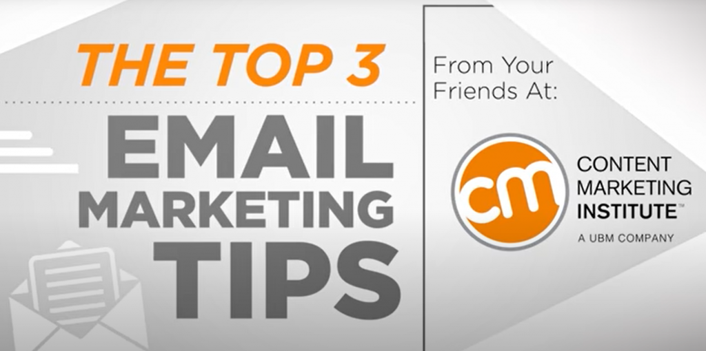 Mastering Content Marketing - Top 3 Email Marketing Tips